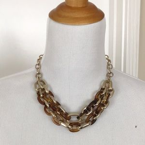 Banana Republic Gold and Tortoise Link Necklace